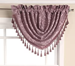Editex Home Textiles Splendid Waterfall Valance, 47 by 37-Inch, Lilac