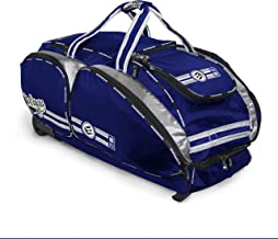 No Errors NO E2 Wheeled Catchers Gear Bag - Large Baseball and Softball Bag for Catcher's Equipment with Fatboy Wheels (Renewed)
