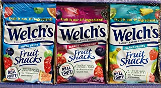 Welch's Fruit Snacks, Bulk Variety Pack with Mixed Fruit, Superfruit Mix, Island Fruits, Gluten Free, Bulk Pack, 2.25 oz (...