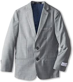 Calvin Klein Kids - Sharkskin w/ Blue Deco Jacket (Big Kids)
