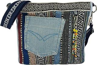 Sunsa Damen Taschen Umhängetasche Handtasche Canvas & Jeans. Große Boho Crossbody Tasche/bag Schultertasche, Geschenkideen...