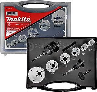 Makita 9 Piece - Plumbers Bi-Metal Hole Saw Kit For Drills - Precise Boring Into Metal, Wood, Aluminum & PVC - Ultra HSS 4/6 Variable Pitch BIM Teeth