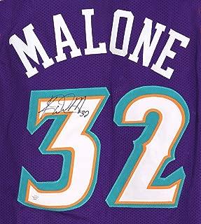 Karl Malone Utah Jazz Signed Autographed Purple #32 Custom Jersey PAAS COA