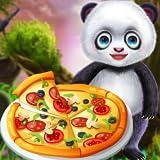 cucina della pizza del bambino panda chef