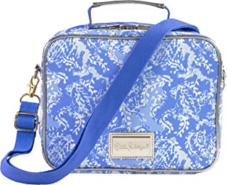 Lilly Pulitzer Thermal Insulated Lunch Bag with Adjustable/Removable Shoulder Strap, Turtley Awesome