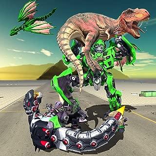 Dragon Robot Transform Game - Dinosaur World Fight