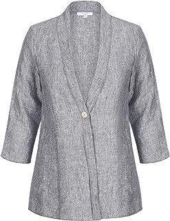 W.Lane Drape Linen Button Jacket - Womens