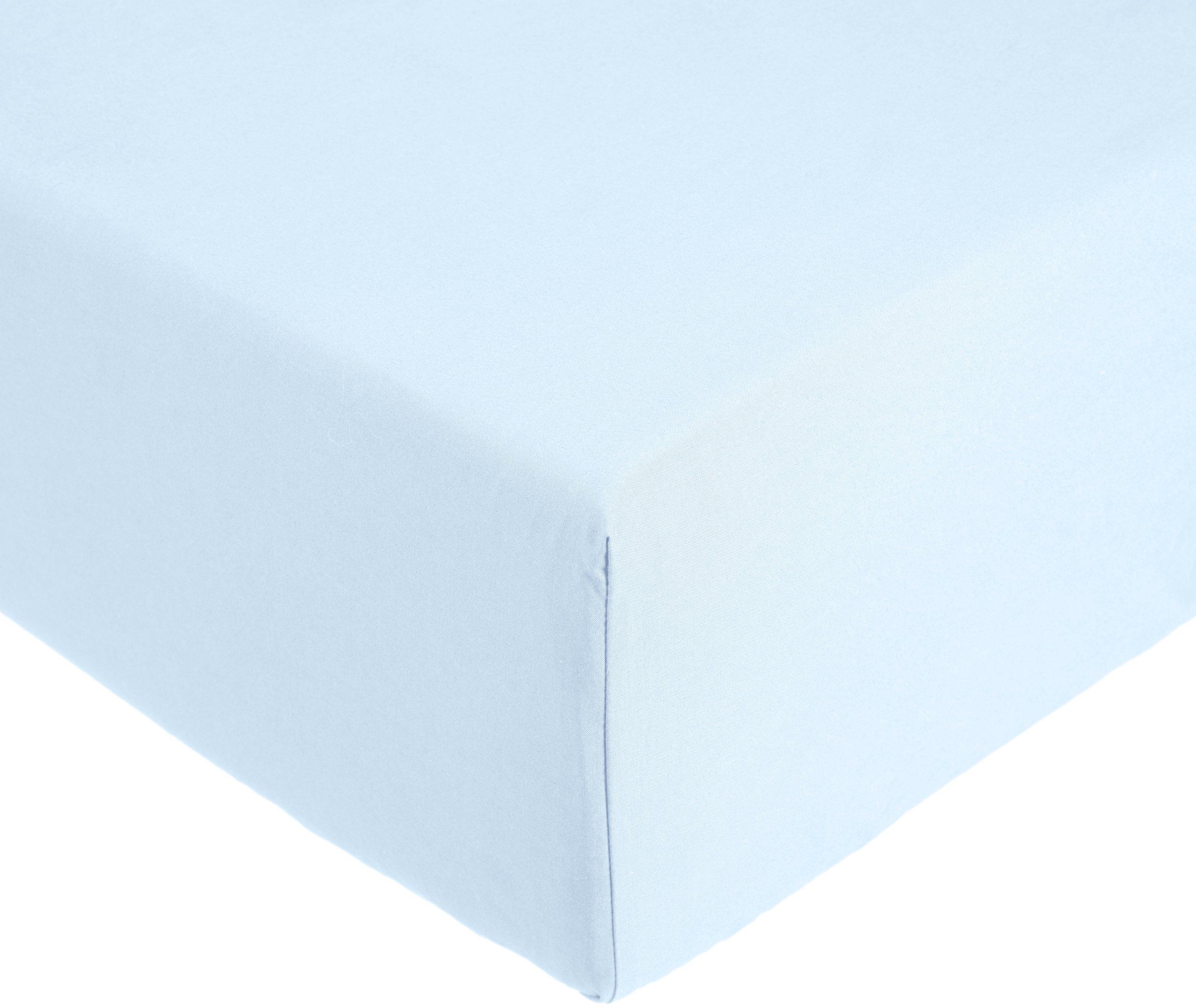 AmazonBasics Everyday - Sábana bajera ajustable (100% algodón) Azul - 90 x 190 x 30 cm: Amazon.es: Hogar