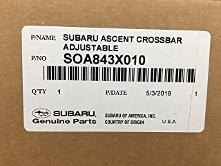 Subaru 2019 Ascent Aero Crossbar Roof Adjustable Rack Set NEW SOA843X010 Genuine