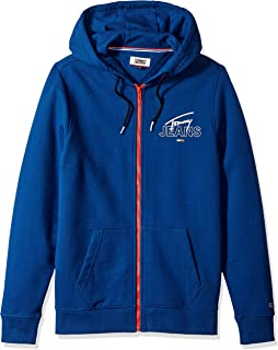 Tommy Hilfiger Mens DM06049 Essential Graphic Hoodie Full Zip Up Sweatshirt Sweatshirt