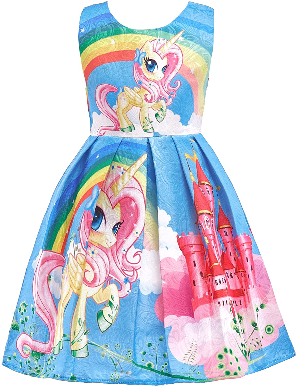 Dressy Daisy Girls Dress Costumes Rainbow Unicorn Costumes Fancy Dress up