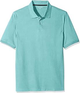 Amazon Essentials Regular-Fit Striped Cotton Pique Polo Shirt Uomo