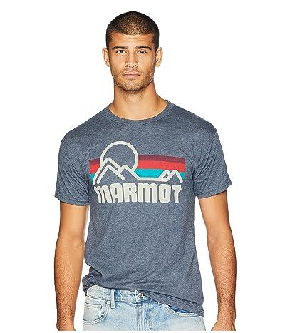Marmot Short Sleeve Coastal Tee (Navy Heather) Men