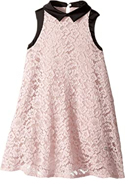 Lanvin Kids - Sleeveless Lace Dress with Contrast Trim (Little Kids/Big Kids)