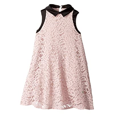 Lanvin Kids Sleeveless Lace Dress with Contrast Trim (Little Kids/Big Kids) (Pink) Girl