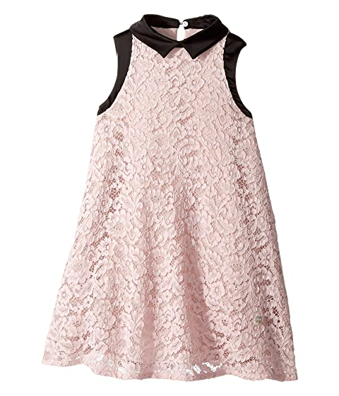 97c861ec65b2 Lanvin Kids Sleeveless Lace Dress with Contrast Trim (Little Kids/Big Kids)