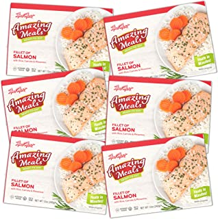 Kosher Parve Mre, Meal Mart Amazing Meals Ready to Eat, Fillet of Salmon Rice & Pimentos (6 Pack) – Travel, Military, Emer...