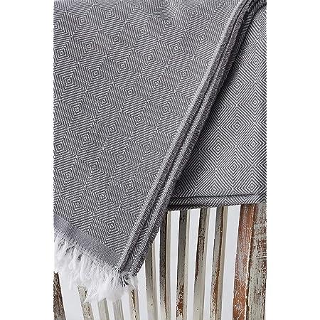 Textilhome - Couvre-lit por Canape à Housse Dante, Taille 180x285 cm - Jeté de lit ou Jeté de canapé - Couleur Grey