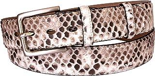 ESPERANTO Cintura in Pitone Edizione Limitata con Fori Ovali-Sconto 25% 4 cm e 3,5 cm