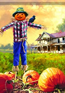 Carson Home Accents Fall Scarecrow Trends Classic Large Flag