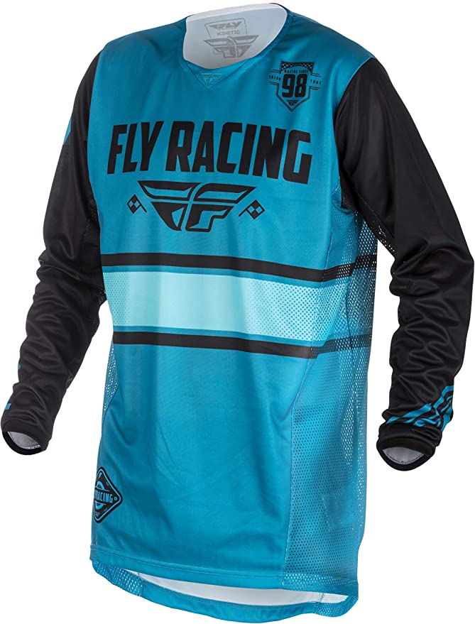 Fly Racing Jersey Kinetic Era Blau Schwarz