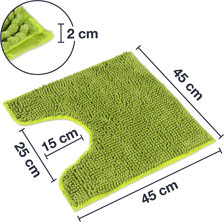 WohnDirect Alfombrilla de ba/ño Naranja /• Puede combinarse en un Conjunto /• Antideslizante y Lavable /• C/ómoda Y S/úper Absorbente 45x45cm