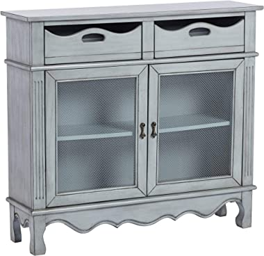"""Audley 39 1/4"""" Wide Gray-Blue Finish Wood Chest by Elm Lane - Elm Lane"""