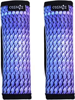COSMOS Pack of 2 Neoprene Luggage Handle Wrap / Handle Grip / Luggage Identifier for Travel Bag Luggage Suitcase (Blending Scale Pattern)