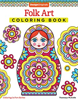 Folk Art Coloring Book (Design Originals) (Coloring Is Fun)
