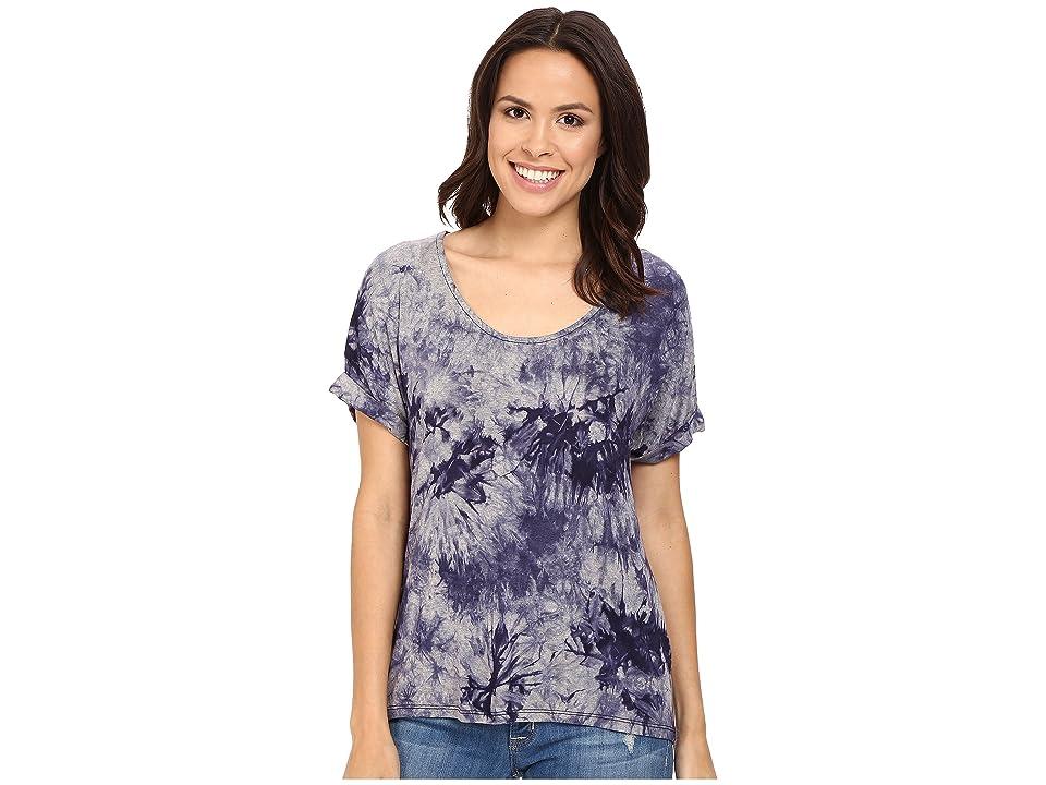Three Dots Nadine Scoop Neck Dolman T-Shirt (Night Iris) Women