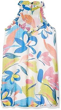 BCBGeneration Women's Textured Floral Halter Dress