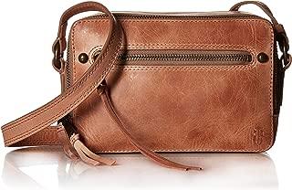 Leather Zip Camera Crossbody Bag