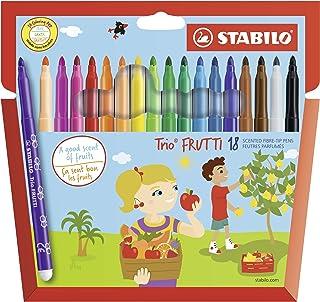 Stabilo Trio Frutti–Custodia Cartone di pennarelli punta media (inchiostro profumata)–Colori assortiti Etui de 18 mult...