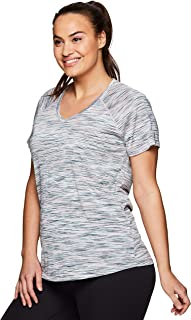 Active Women's Plus Size Yoga Workout Short Sleeve V-Neck...