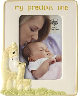 Precious Moments Precious One Ceramic Giraffe Photo Frame, Pastel Yellow