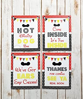 mickey mouse food labels