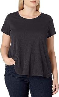 Calvin Klein Performance Women's Plus Size Slub Jersey Criss Cross V Back Swing Tee
