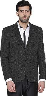 WINTAGE Men's Premium Rayon Notch Lapel Two Button Coat Blazer Jacket