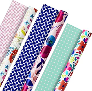Hallmark 5EWR2433 All Occasion Reversible Wrapping Paper for Birthdays, Bridal Showers, Baby Showers, Mothers Day, and Mor...