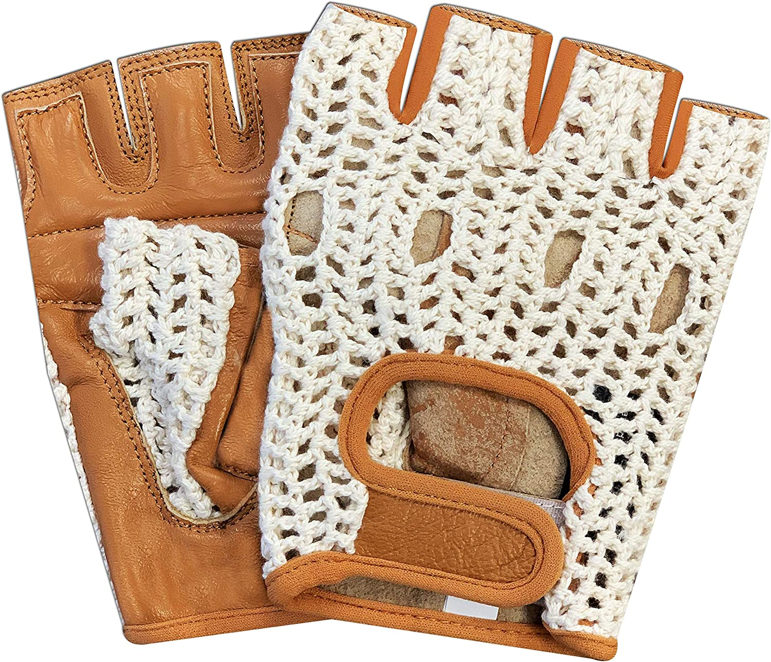 Max 87% OFF Real Soft 5 ☆ popular Leather Mesh Net Fingerless Training Weight Cy Driving