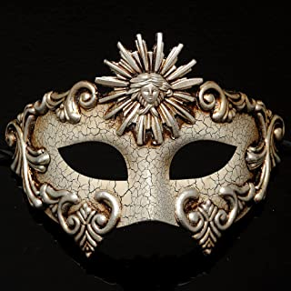 4everStore Roman Masquerade Mask w/ Crackle Acrylic Paint