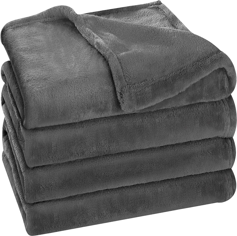 Utopia Bedding Fleece Blanket King Size Grey 300GSM Luxury Bed Blanket Anti-Static Fuzzy Soft Blanket Microfiber : Home & Kitchen