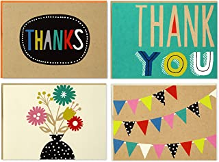 Hallmark Boxed Thank You Notes Assortment (Four Assorted Designs, 40 Cards and Envelopes)