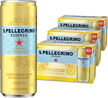 24-Pack S.Pellegrino Essenza Lemon & Lemon Zest Flavored Mineral Water