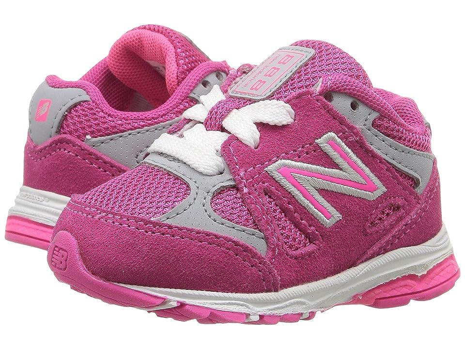 New Balance Kids KJ888v1 (Big Kid) (Pink/Grey) Girls Shoes