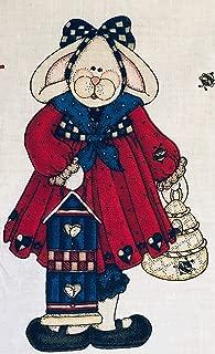 Daisy Kingdom Bunny Girl 36 Inch Door Panel Fabric 3538
