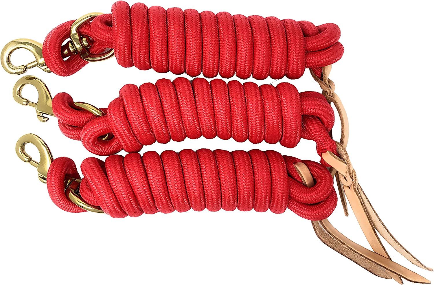 9 Foot Nylon Lead Rope with Leather 3 Limited Special Price of Popper Max 41% OFF - Set