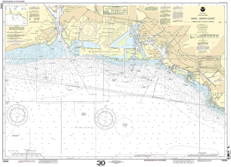 NOAA Chart 19369 O'ahu South South South Coast Approaches to
