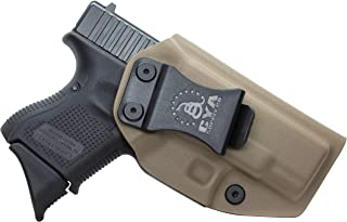 CYA Supply Co. IWB Holster Fits: Glock 26 / Glock 27 / Glock 33 - Veteran Owned Company - Made in USA - Inside Waistband Concealed Carry Holster