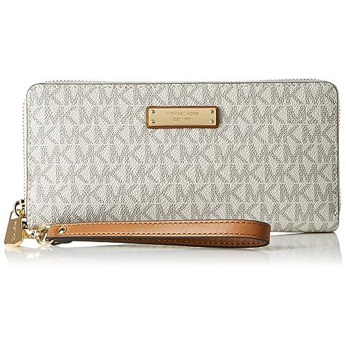 5ffd2a125c92 Michael Kors Womens Travel Continental Money Pieces Logo Wristlet Wallet